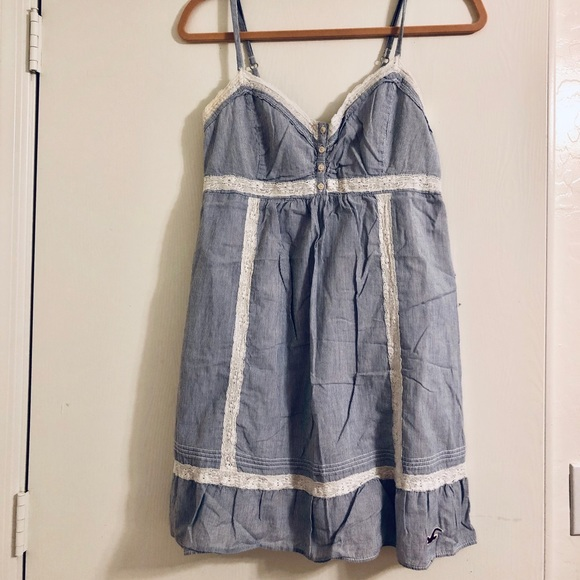 Hollister Dresses & Skirts - Hollister Blue White Striped Dress